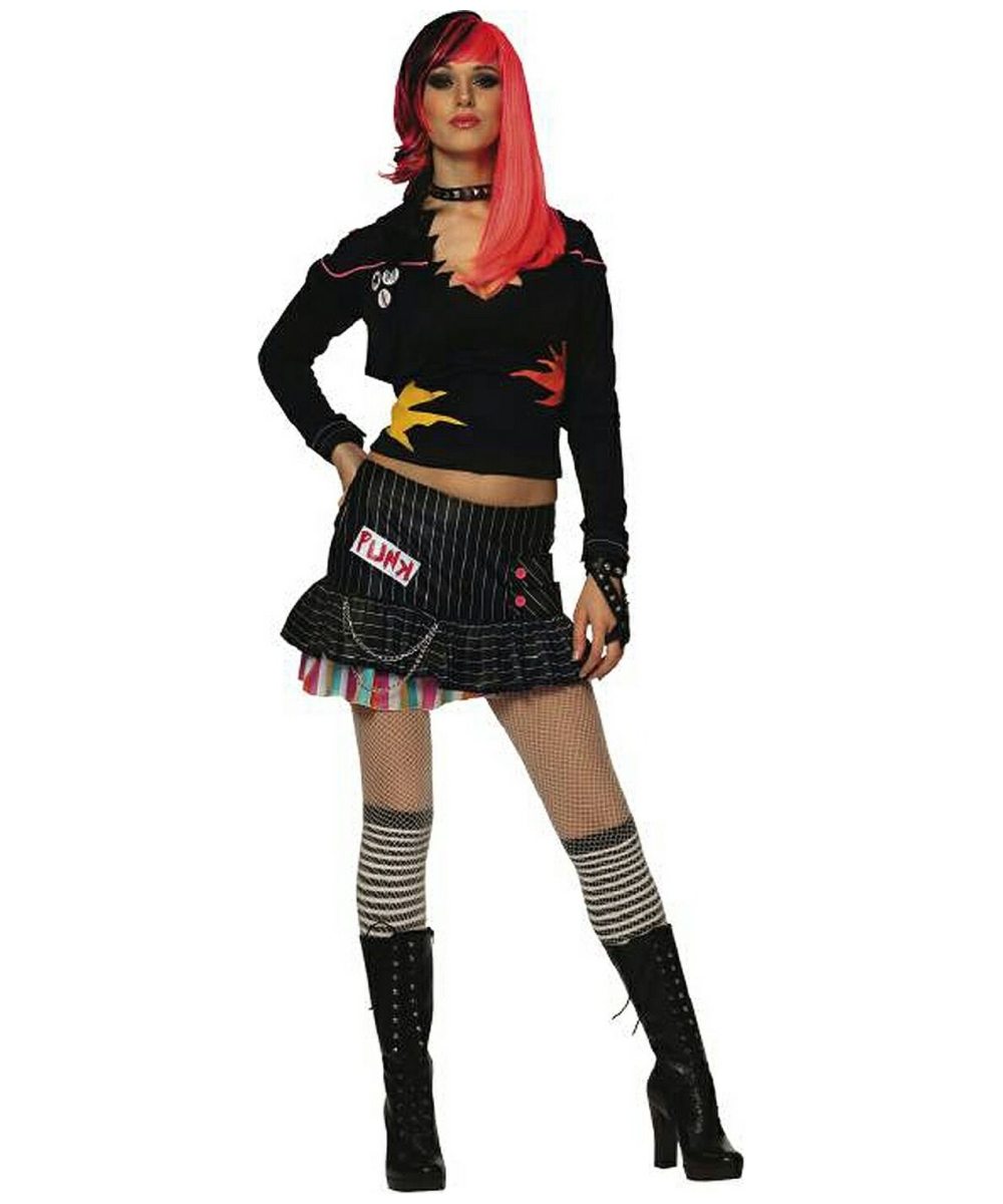 Adult Punk Rock Star Halloween Costume