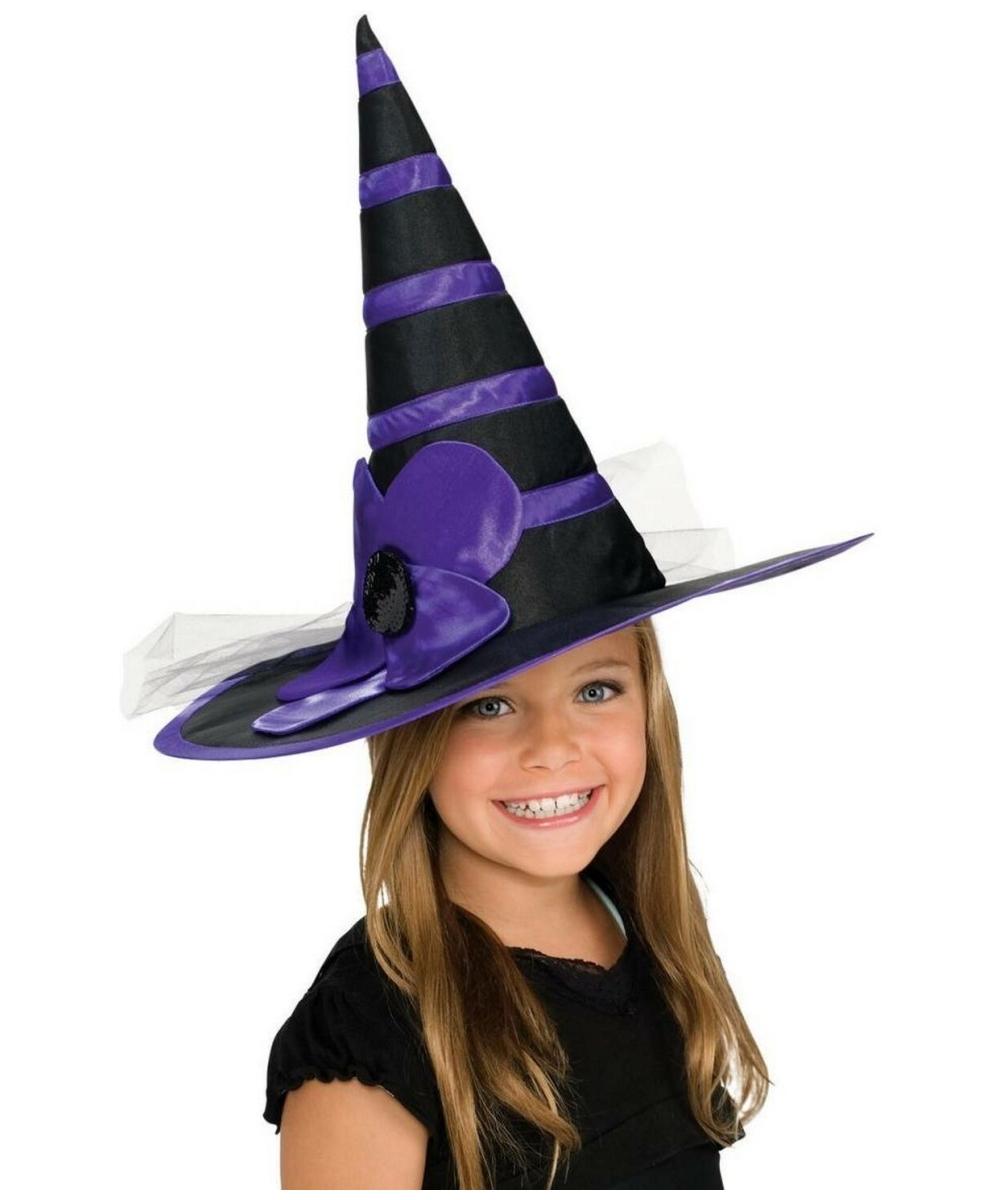 Purple Witch Hat - Child Hat - at Wonder Costumes