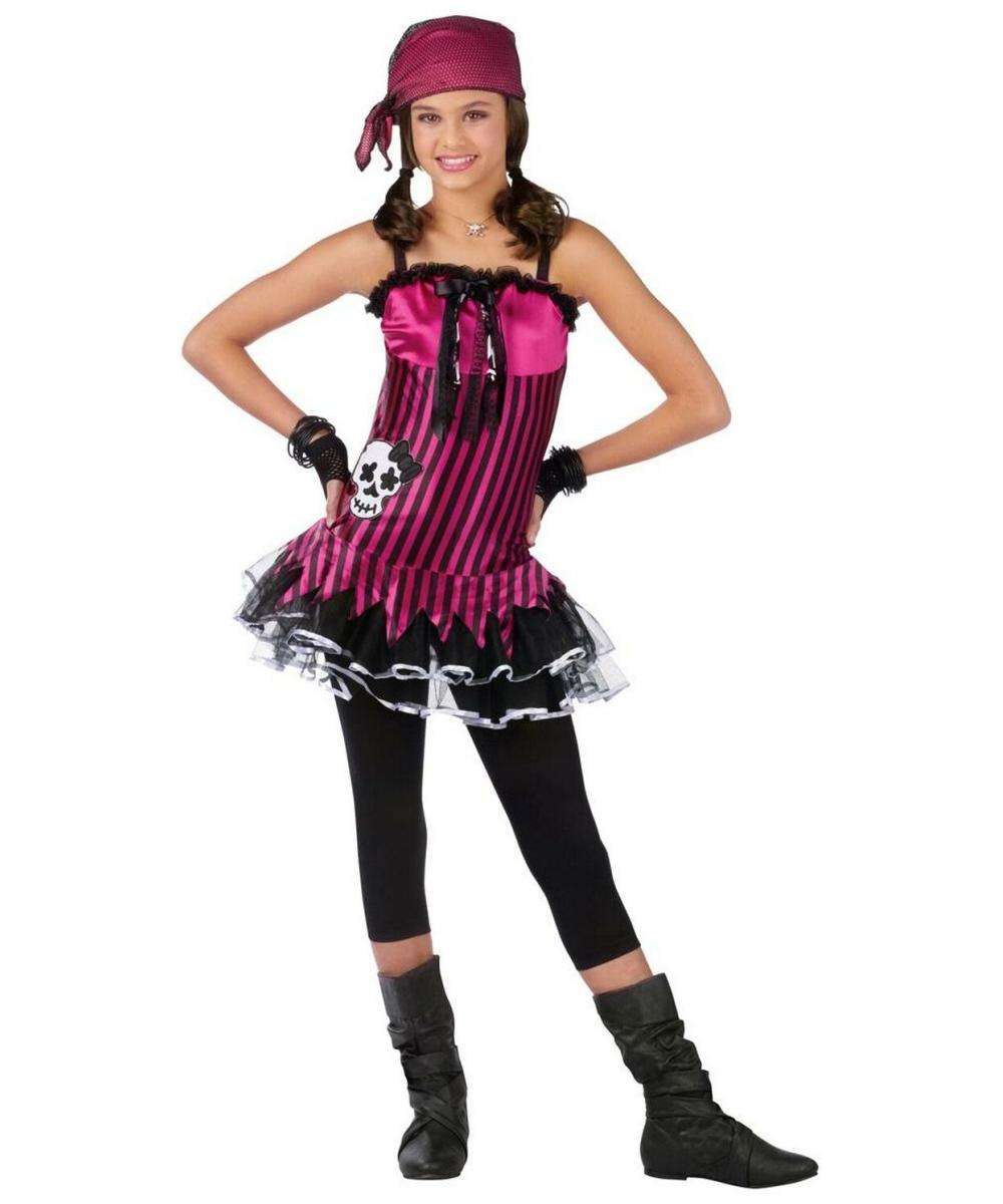 sc 1 st  Wonder Costumes & Rockin Skull Pirate Kids Halloween Costume - Girls Costumes