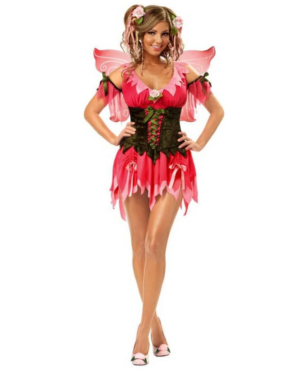 cf9bbaba5c1 Rose Fairy Costume - Adult Costume Deluxe - Fairy Halloween Costume at  Wonder Costumes