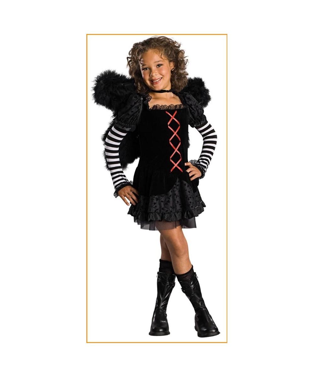 Drama Queen Dark Angel Costume - Kids Halloween Costumes
