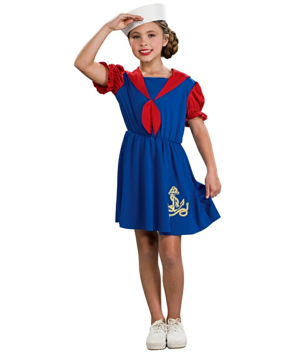 Kids Sailor Girl Costume - Girls Halloween Costumes