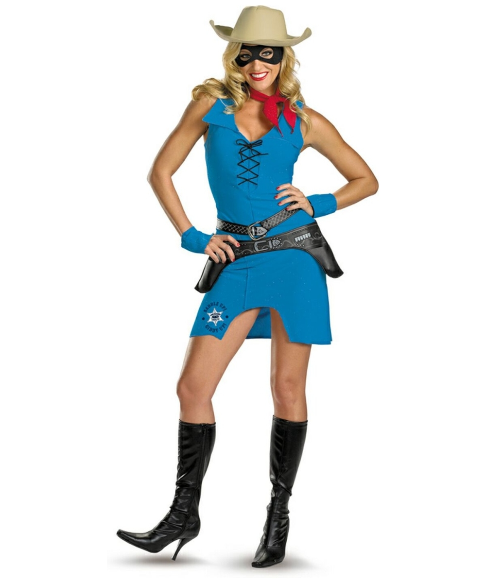 Cowgirl Female Lone Ranger Adult Costume Women Cowboy
