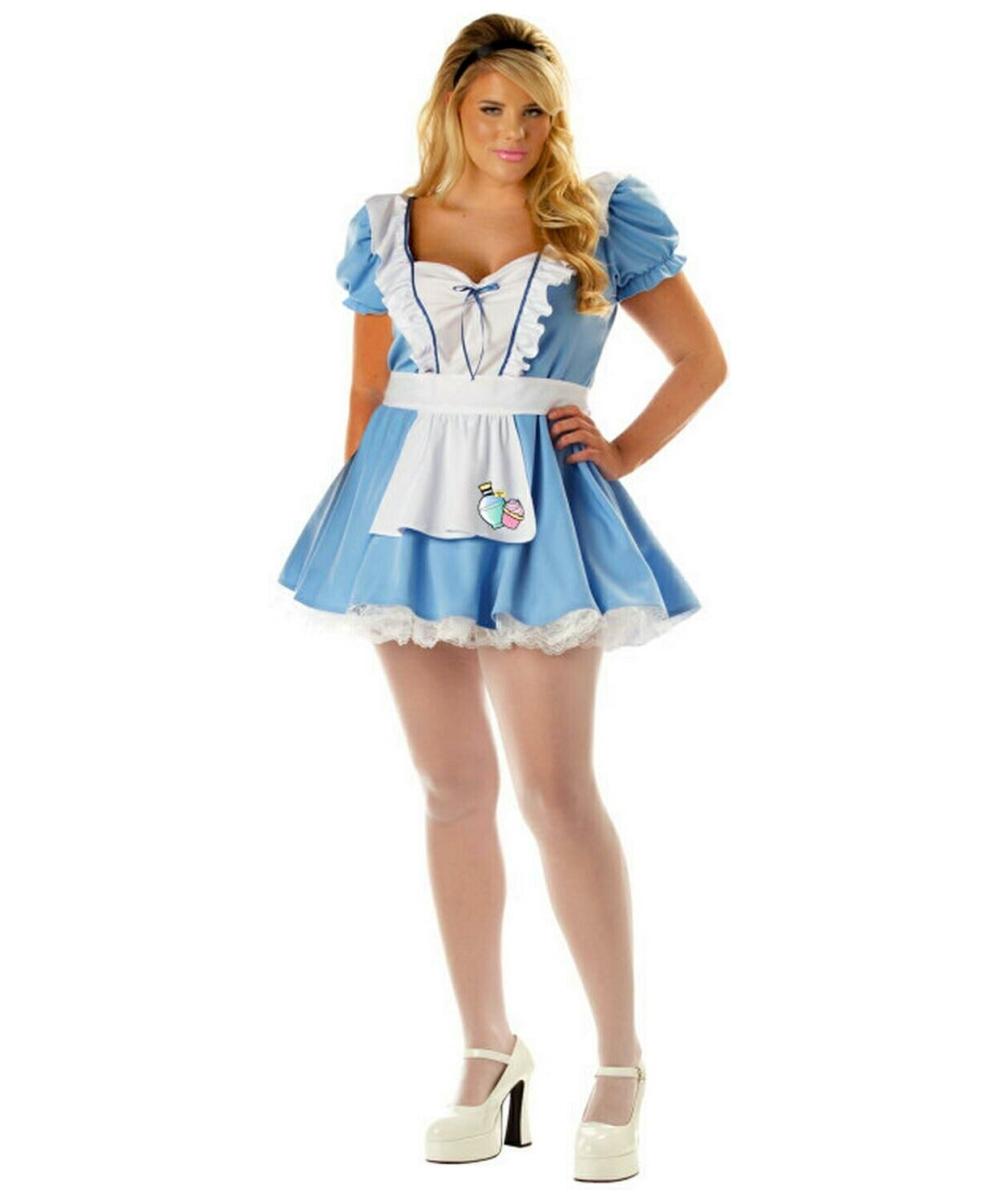 Alice Sexy Adult Plus Size Costume - Women Alice Costumes-1507