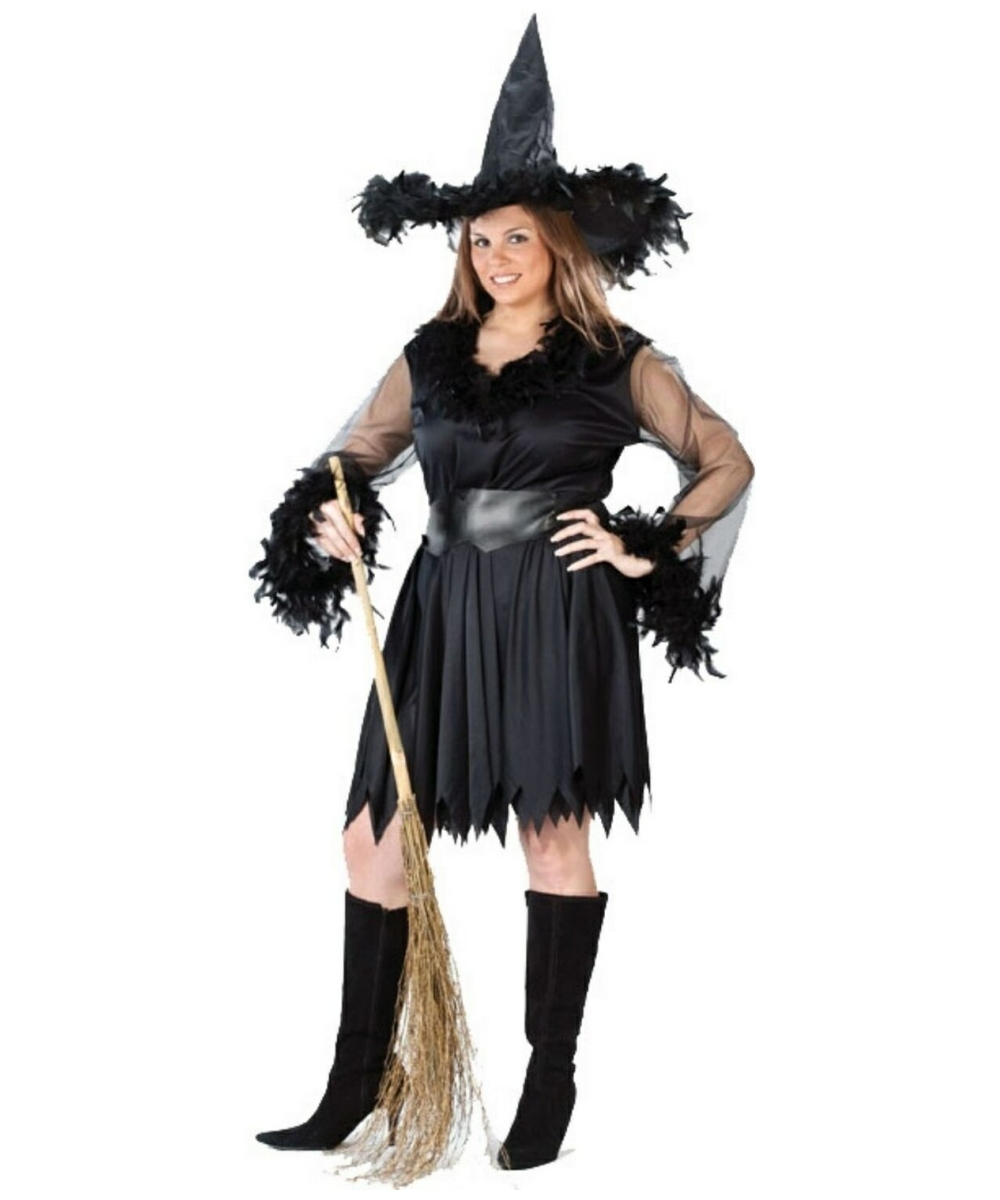 e872a0f8ca6 Adult Sexy Feather Witch plus size Costume - Sexy Costumes