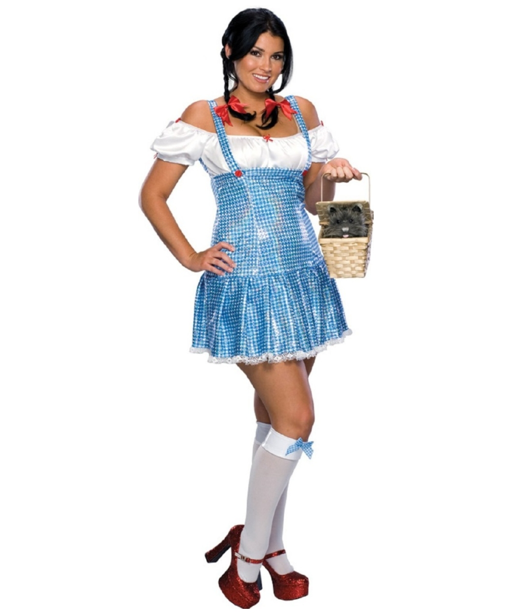 Sexy Sequin Dorothy Costume Adult Costume