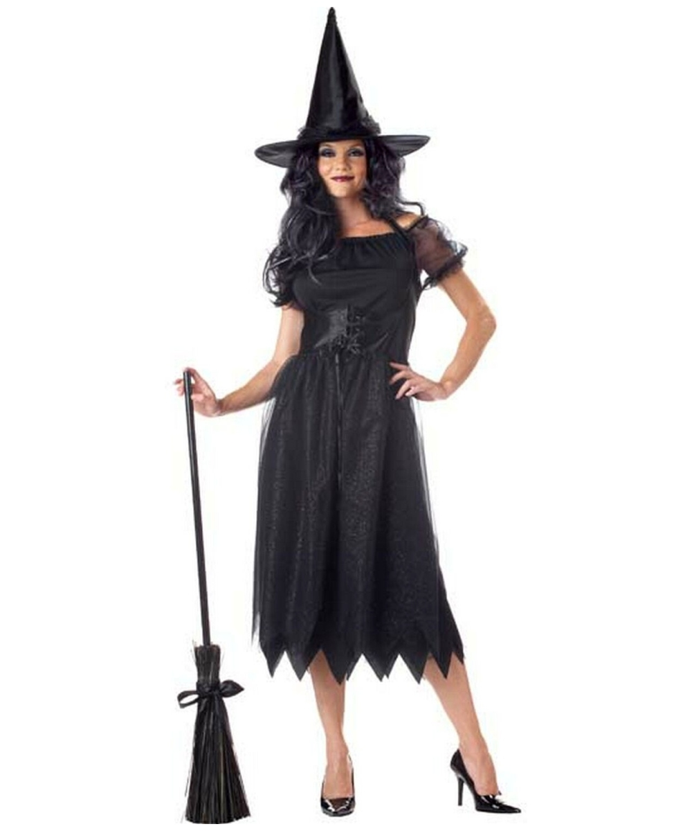 Adult Sparkle Witch Halloween Costume Women Witch
