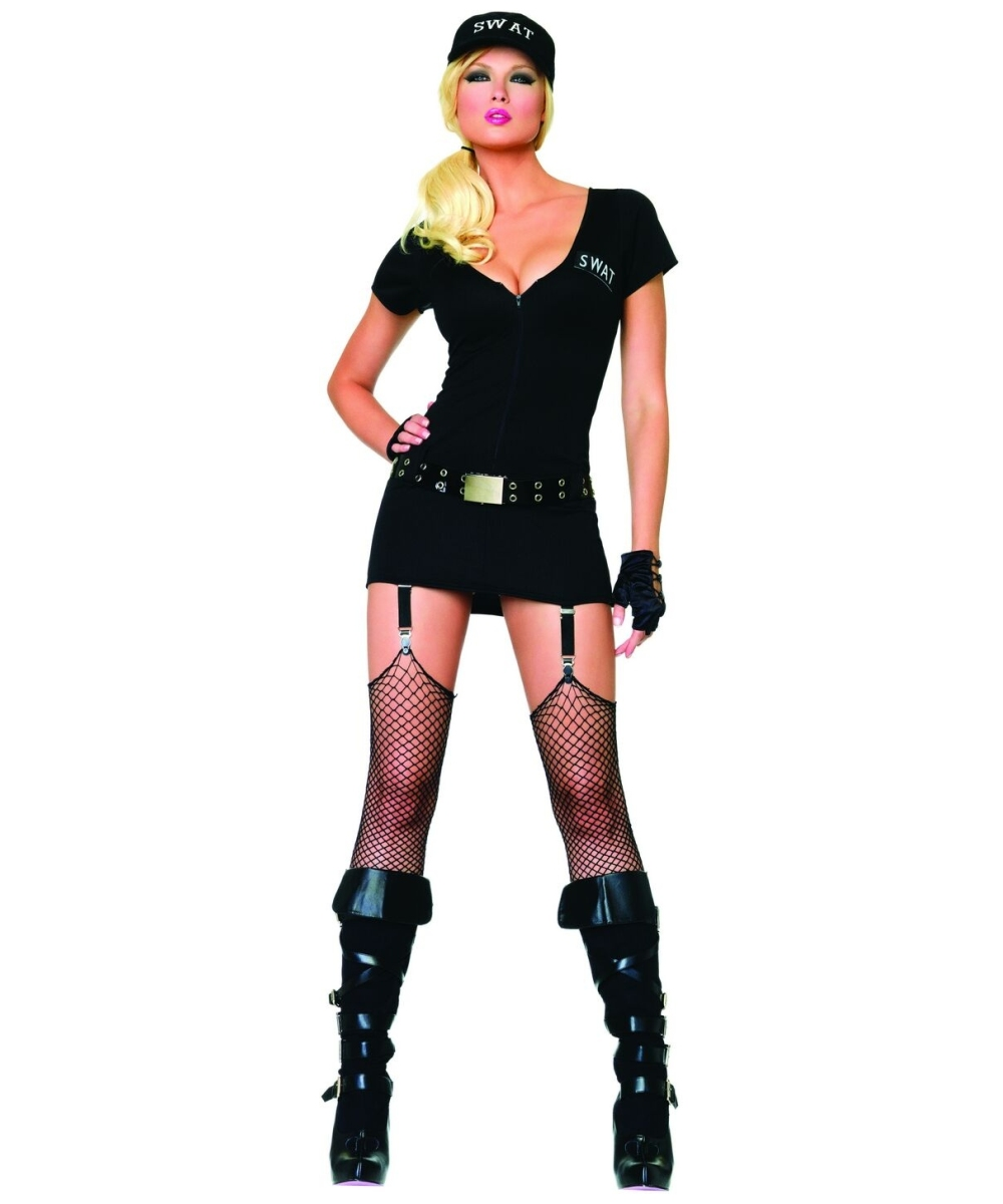sc 1 st  Halloween Costumes & Adult Sexy Swat Commander Police Costume - Women Costumes