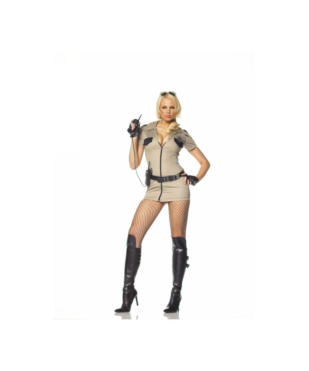 Sexy Sheriff Halloween Costume - Women Costumes-3030