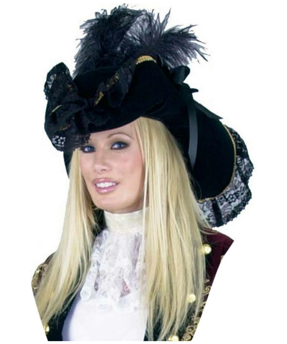 fd7c96cfc85 Velvet Pirate Womens Hat - Adult Costume Accessory - at Wonder ...