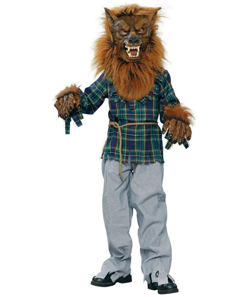 Werewolf Kids Costume Deluxe  sc 1 st  Halloween Costumes & Werewolf Kids Animal Costume - Werewolf Costumes