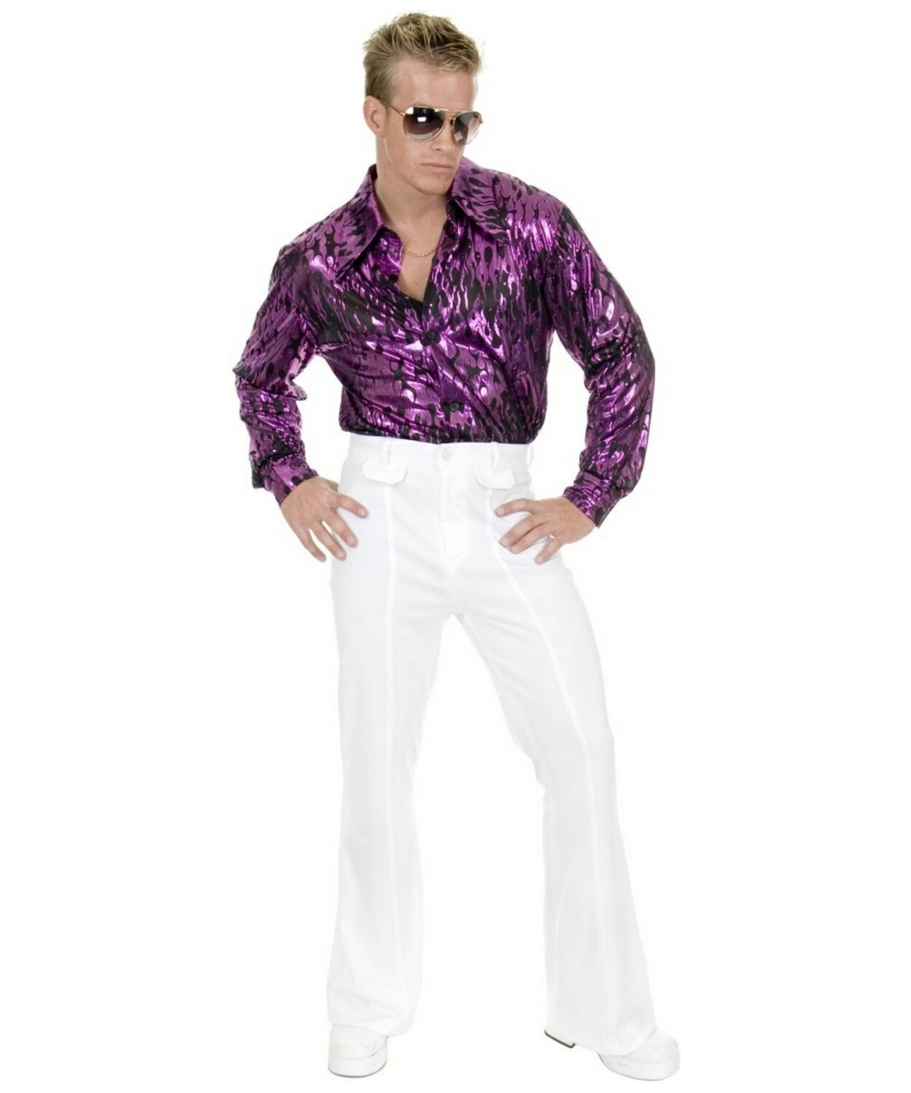 disco white pants adult costume  men disco costumes