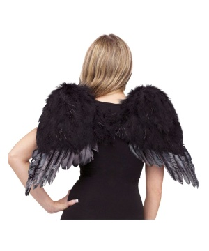 Black Feather Angel Wings Child Accesory