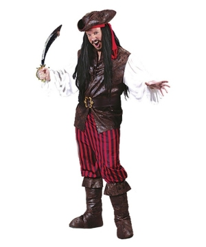 High Seas Buccaneer Men Pirate Costume