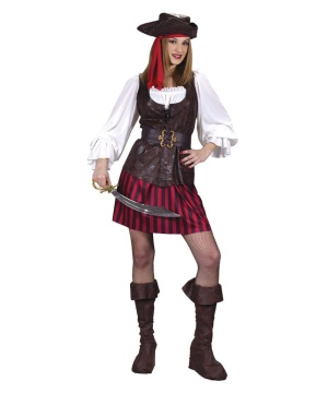 High Seas Female Buccaneer Womens Pirate Costume  sc 1 st  Wonder Costumes & Buccaneer High Seas Female Costume - Women Halloween Costumes