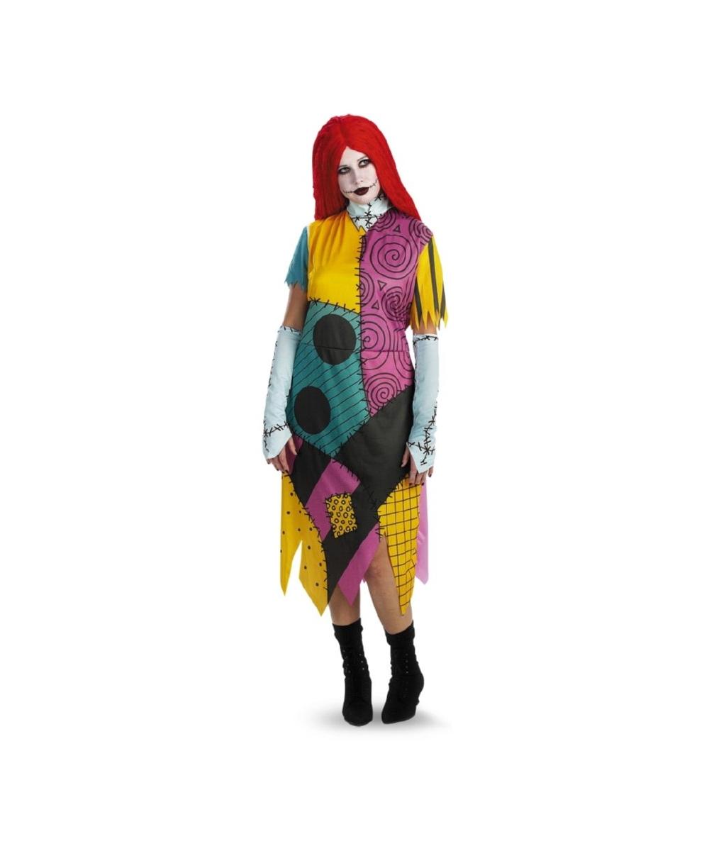 58e2f224ca9 Sally Nightmare Before Xmas plus size Disney Adult Costume - Women Costumes