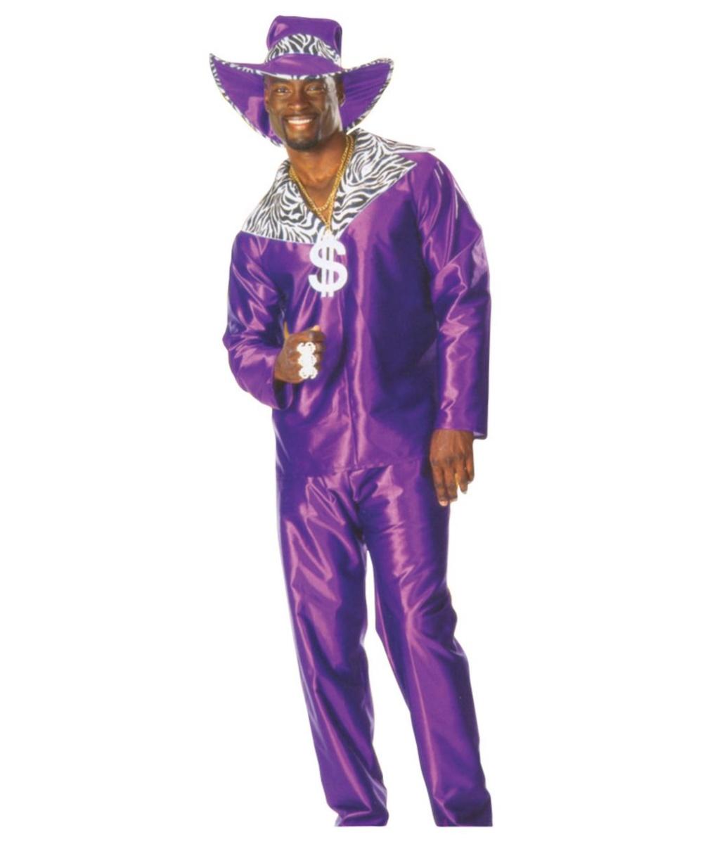 Pimp Purple Crushed Velvet Adult Costume
