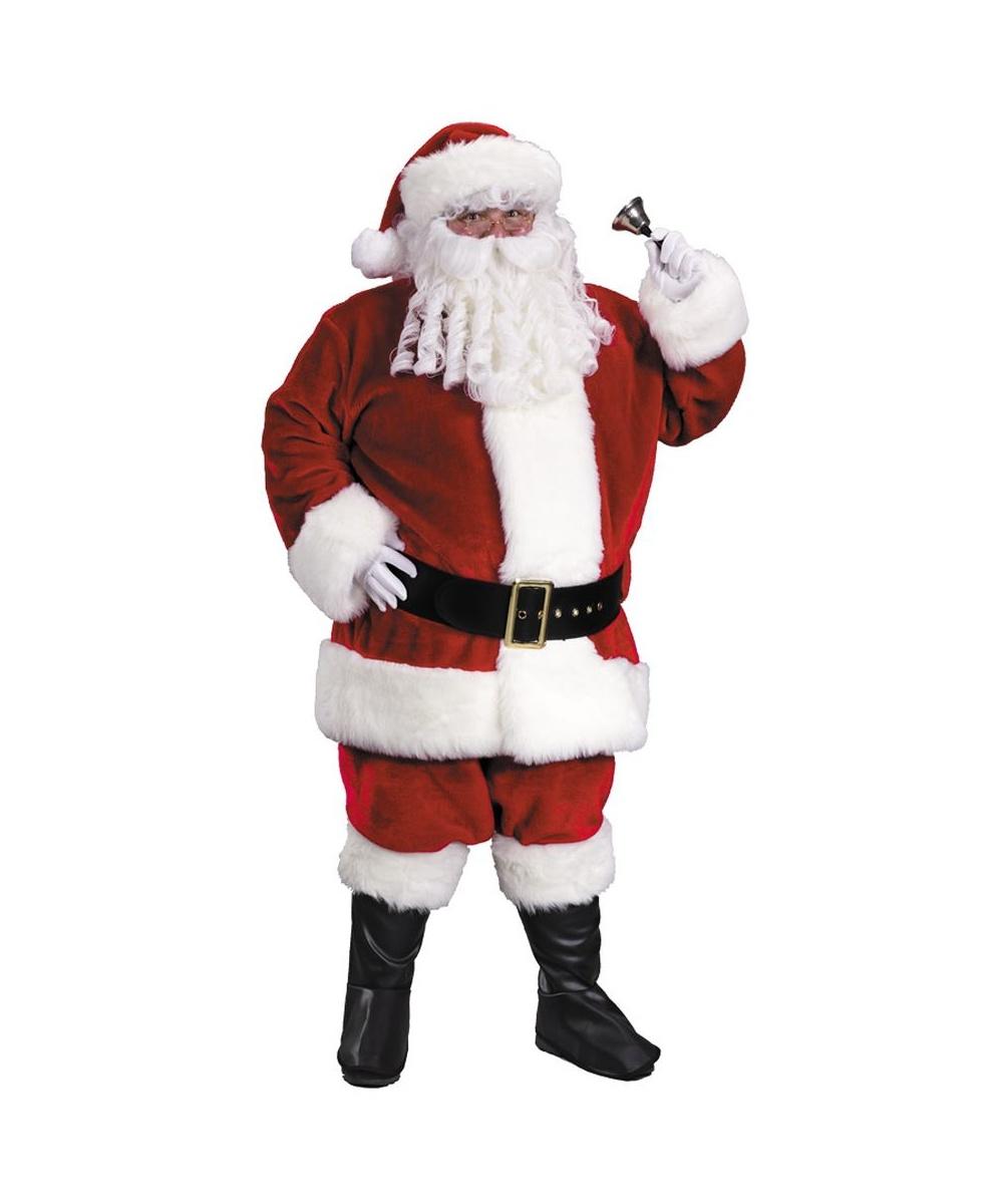 2c200d27343b Mens Red Santa Suit plus size Regency Plush