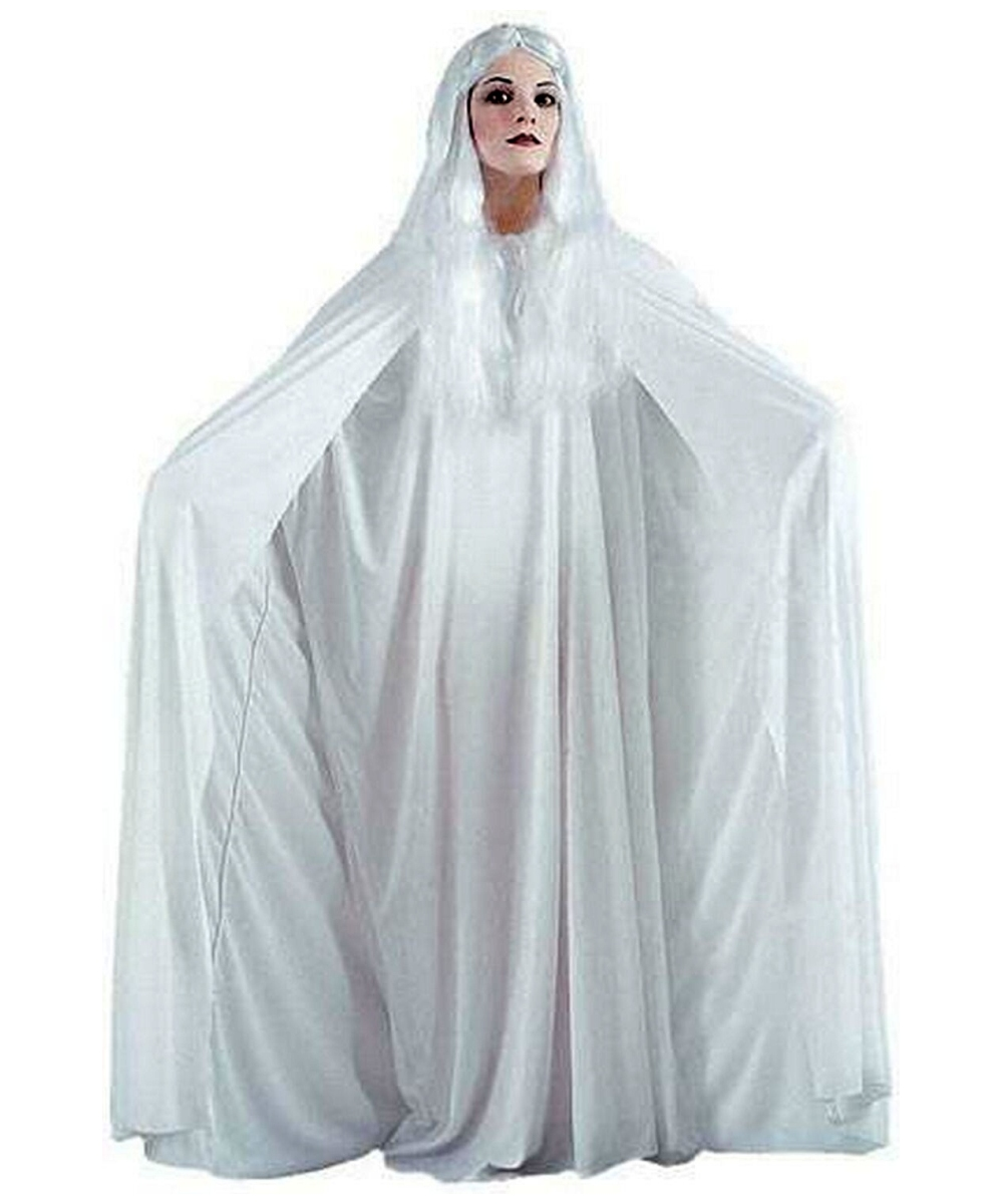 White Hooded Cape Inches