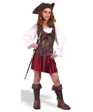 High Seas Buccaneer Pirate Girls Costume