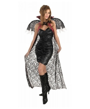 Redblack Lace Cape Wings
