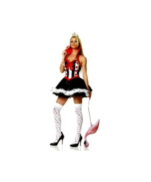 Wonderland Queen Hearts Women Costume