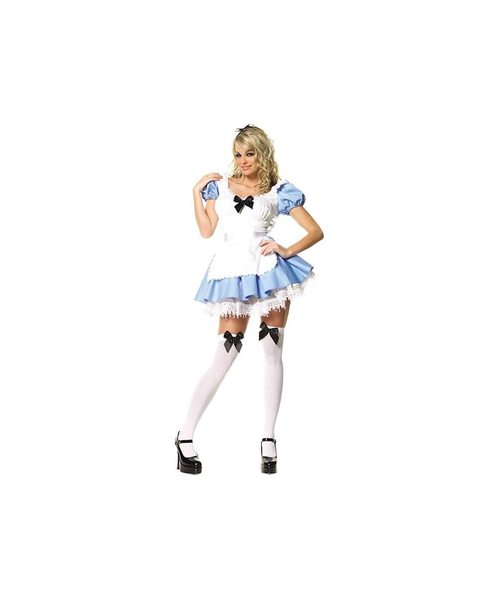 Alice Adventures In Wonderland Sexy Costume - Women Movie Costumes-5255