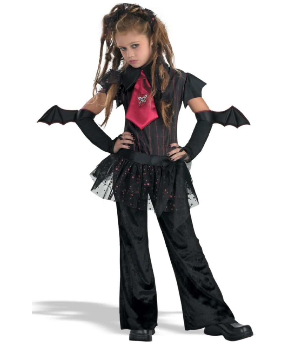 Halloween Vampire Costume Kids.Bat Chick Kids Vampire Halloween Costume Girls Costume