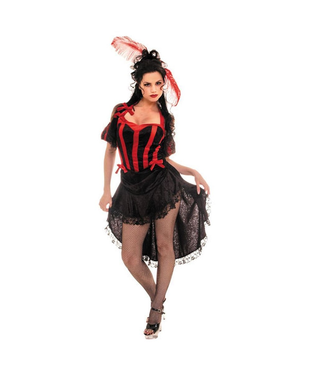 Black Red Womens Costume