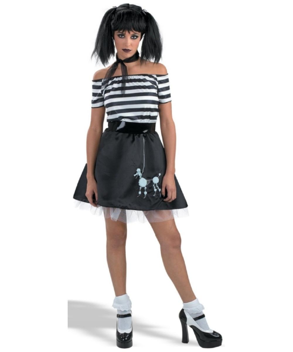 Poodle Bones Teen/ Women Costume  sc 1 st  Wonder Costumes & Adult Poodle Bones 50s Costume - Girls Costumes