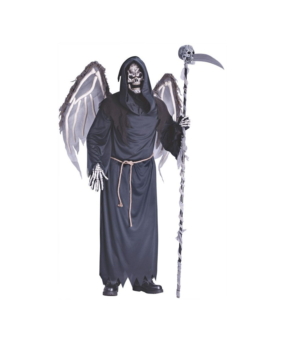 Halloween Costumes Scary Men.Adult Winged Reaper Scary Halloween Costume Men Costumes
