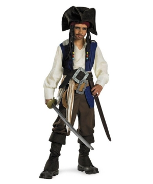 Captain Jack Sparrow Boys Teen Costume deluxe