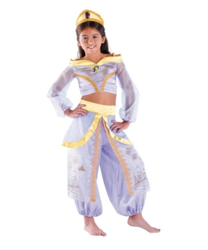 Princess Jasmine Disney Girls Costume Prestige  sc 1 st  Wonder Costumes & Jasmine Kids Disney Costume - Girl Jasmine Costumes
