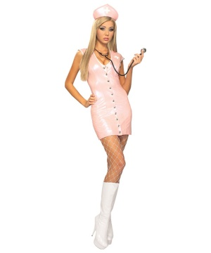 Pink Nurse Women Costume