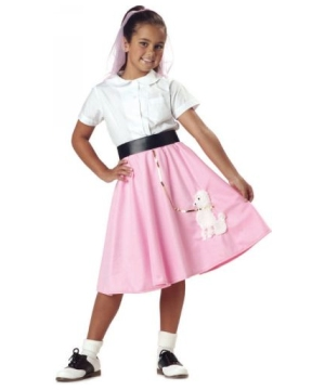 Poodle Skirt Girls Costume