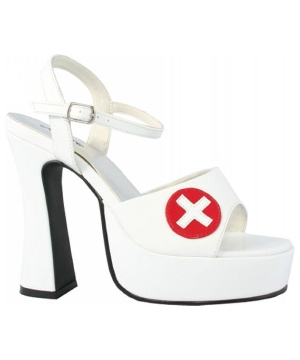 White Nurse Adult Shoe
