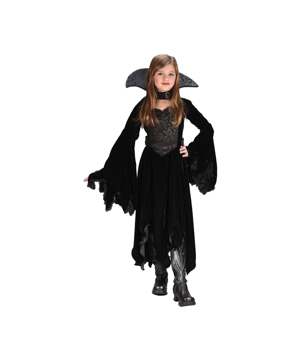 Black Rose Vampiress Costume - Kids Vampire Costumes