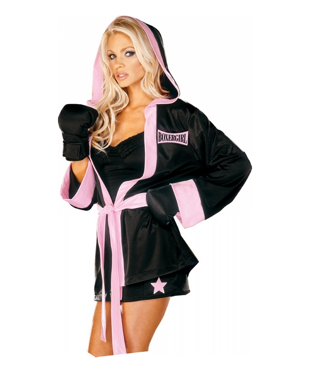 Adult Boxer Girl Sports Costume Women Costume