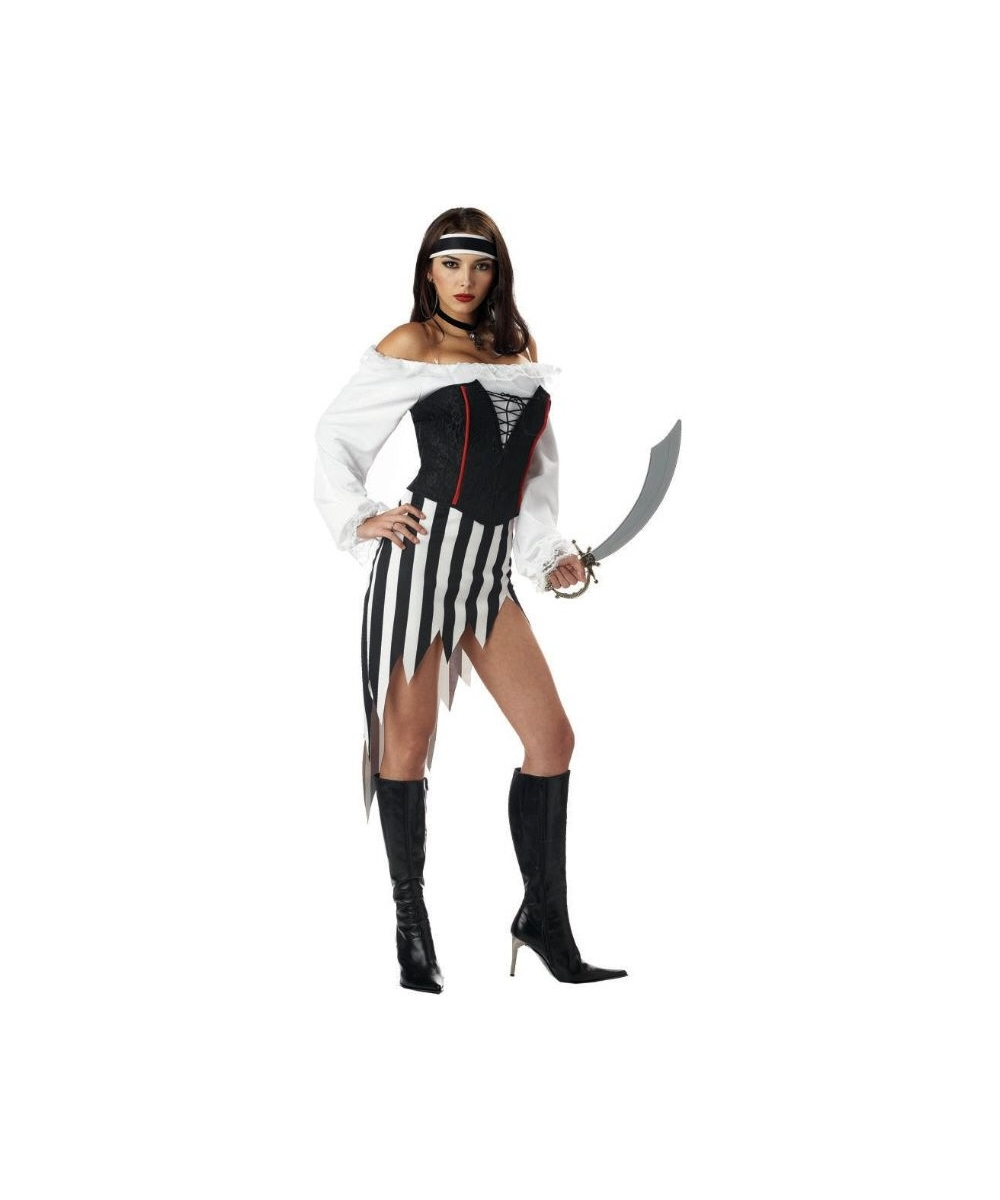 Buccanneer Babe Pirate Woman Costume Wig New