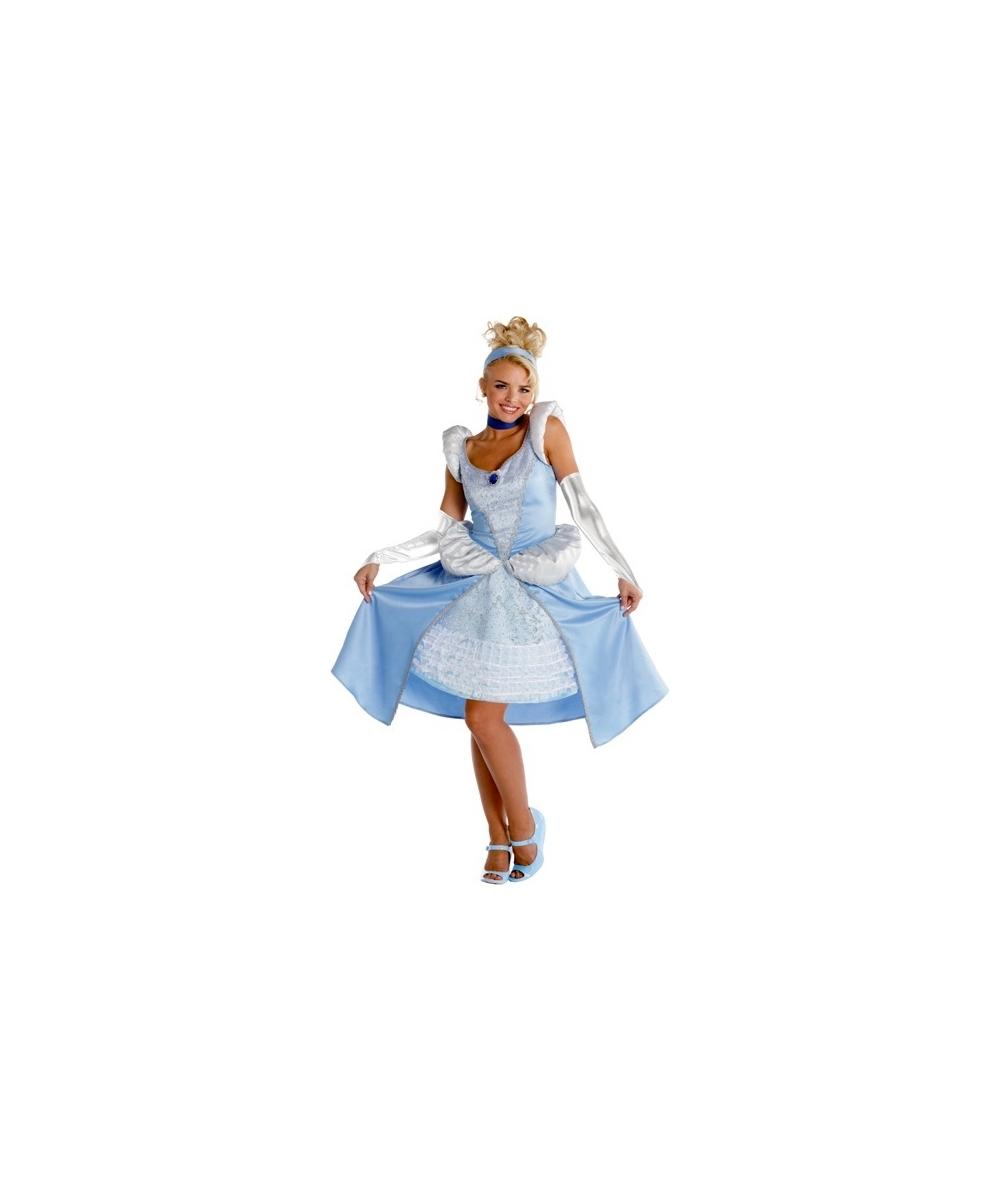 Cinderella Disney Women Costume Deluxe  sc 1 st  Wonder Costumes & Cinderella Disney Princess Adult Costume - Disney Cinderella Costumes