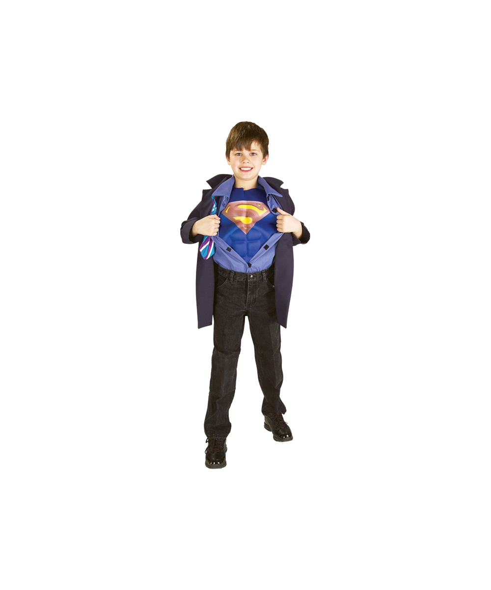 sc 1 st  Wonder Costumes & Clark Kent Superman Kids Movie Costume - Superhero Costumes