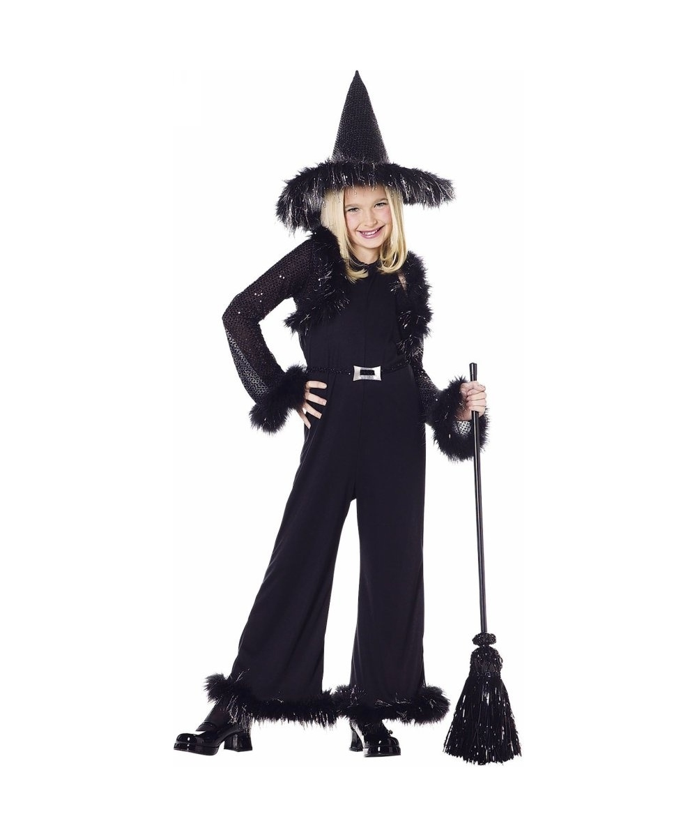 Witch Kids Glamour Costume - Girls Costumes-2070