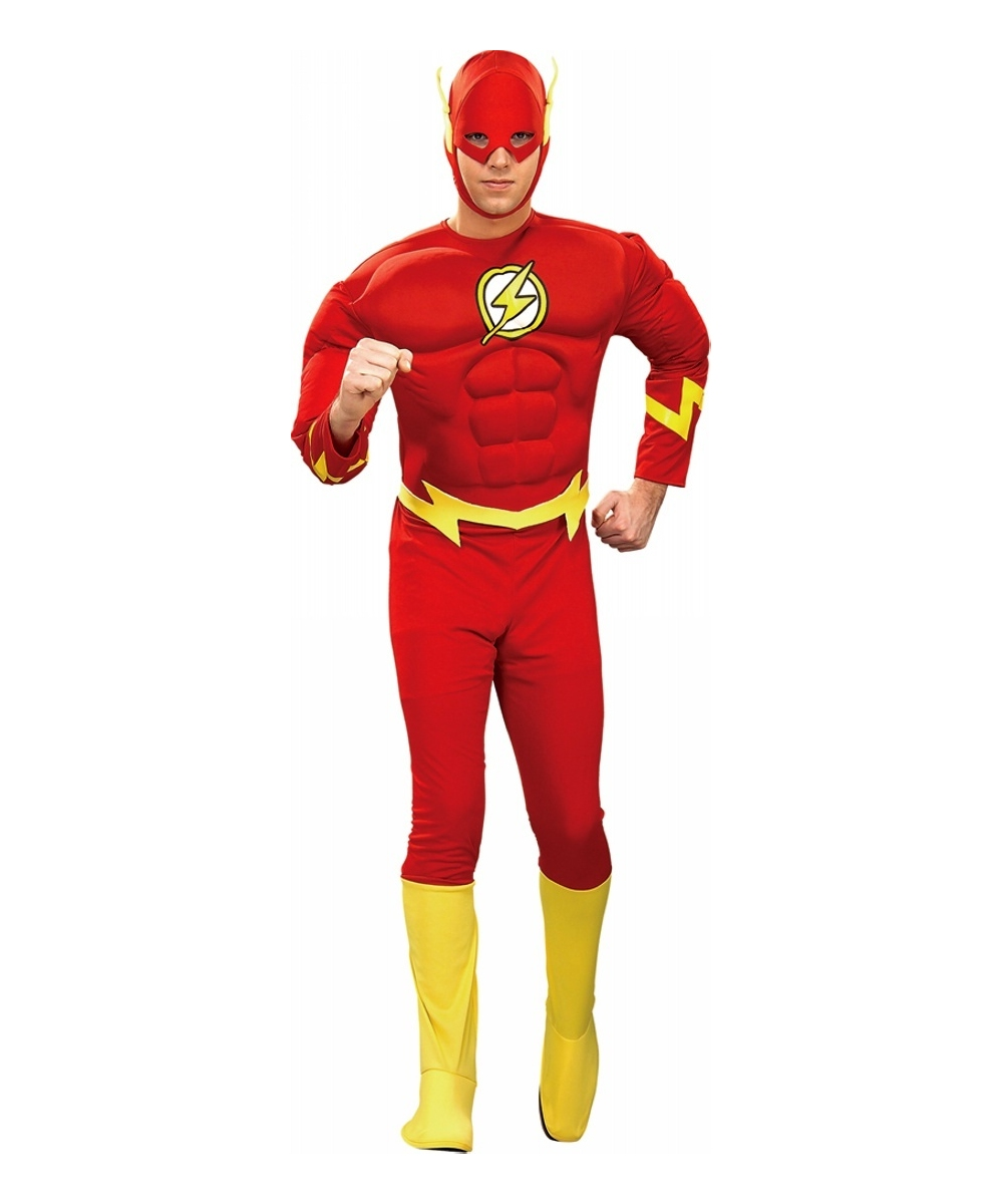 sc 1 st  Wonder Costumes & Adult Flash Muscle Movie Superhero Costume - Men Costumes