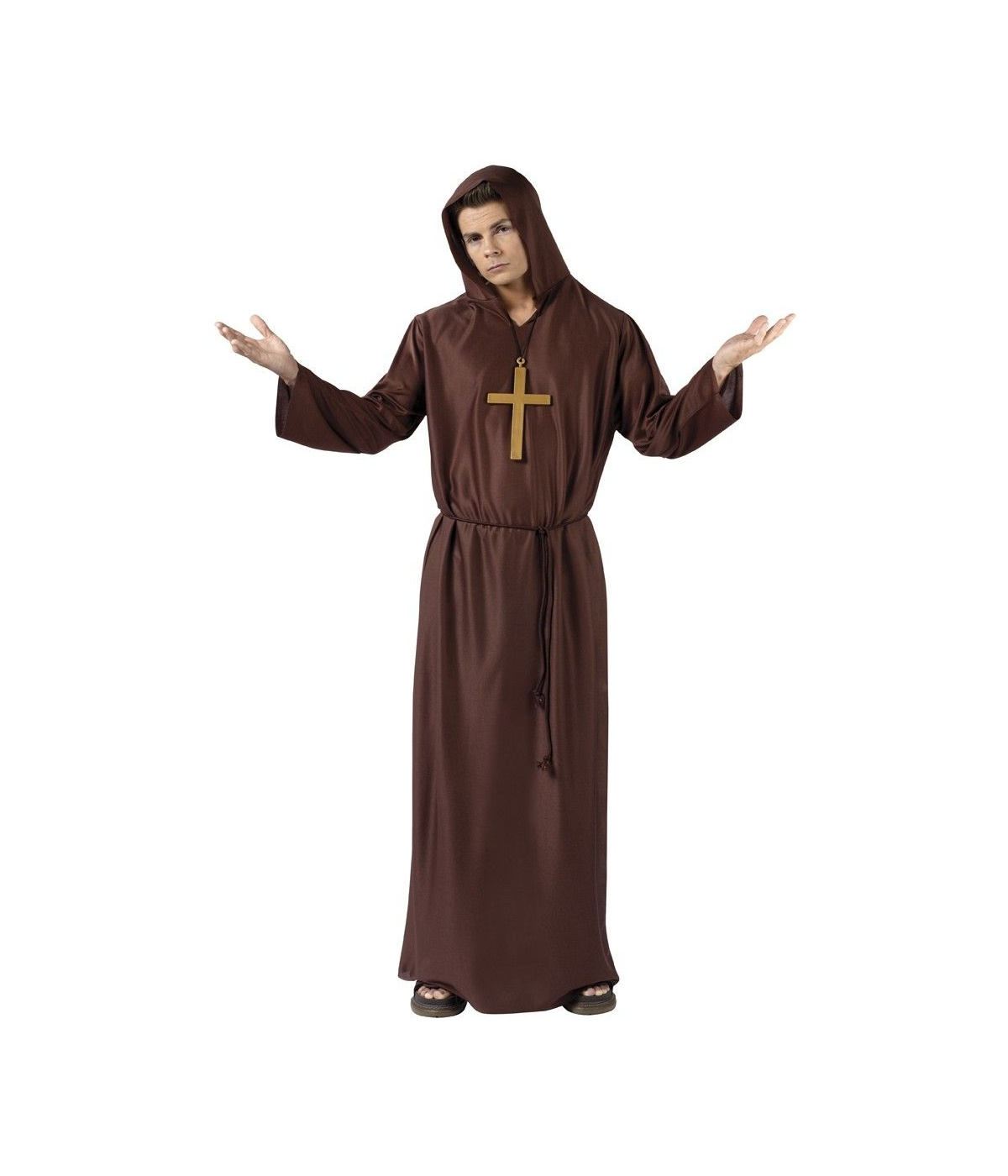 Monk Robe Adult Costume  sc 1 st  Wonder Costumes : priest robe costume  - Germanpascual.Com