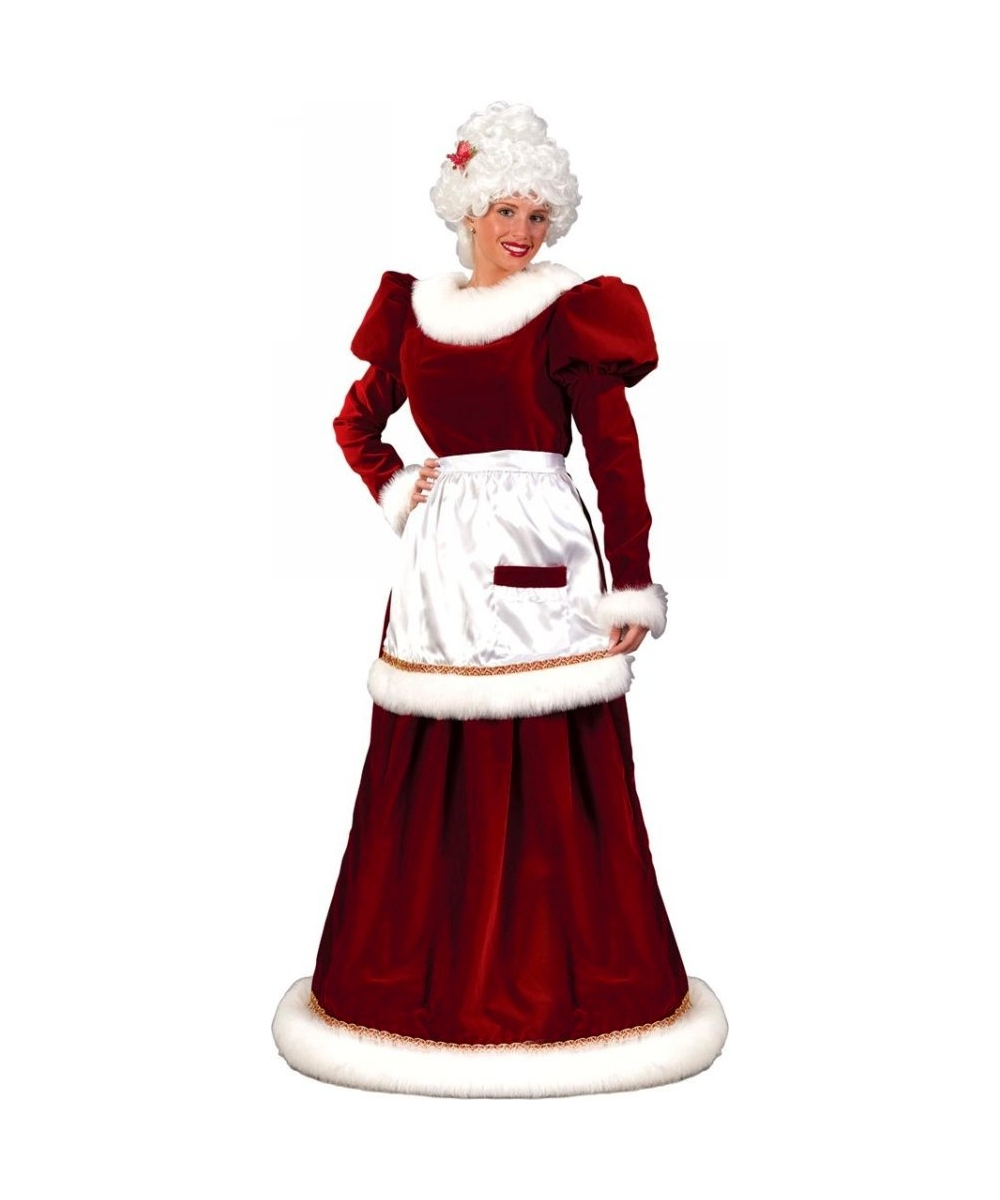 fda0f202650 Adult Mrs Santa Suit Velvet Christmas Costume plus size - Santa Costumes