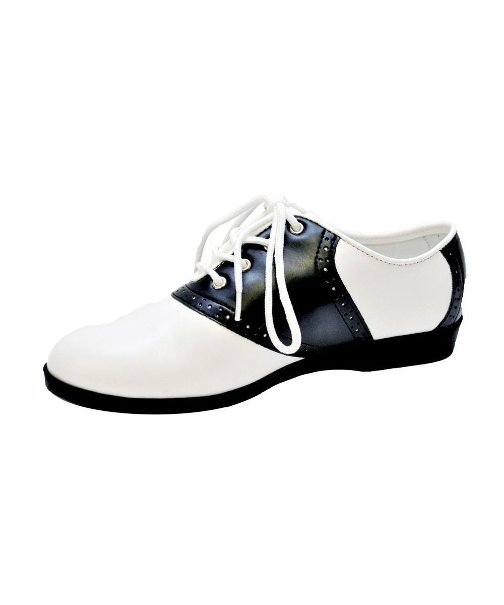 Womens Black Saddle Shoes