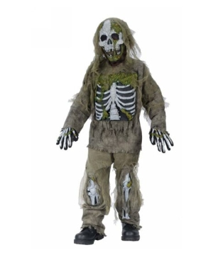 Skeleton Zombie Boys Costume