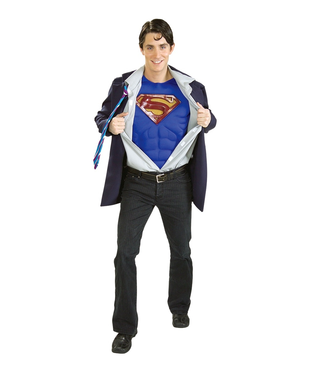 Adult clark kent superman movie costume superhero costumes for Kent superman