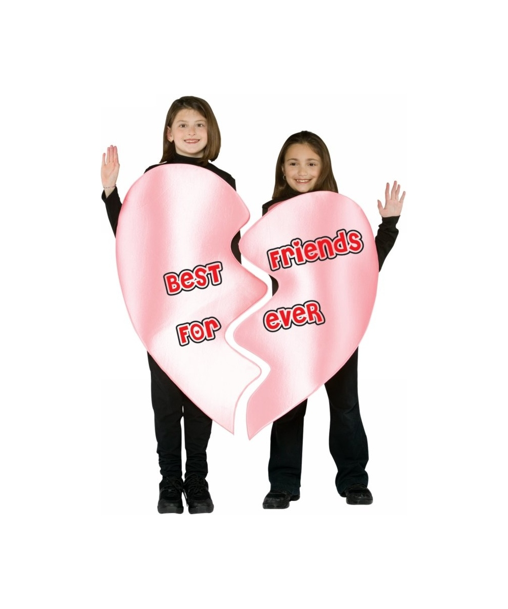 sc 1 st  Wonder Costumes & Be Friends Forever Heart Costume - Kids Halloween Costumes