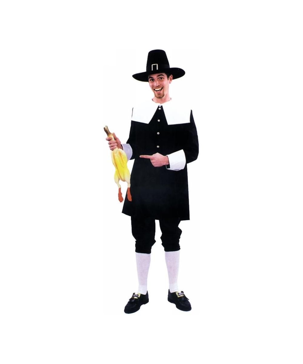 adult pilgrim man costume - men halloween costumes